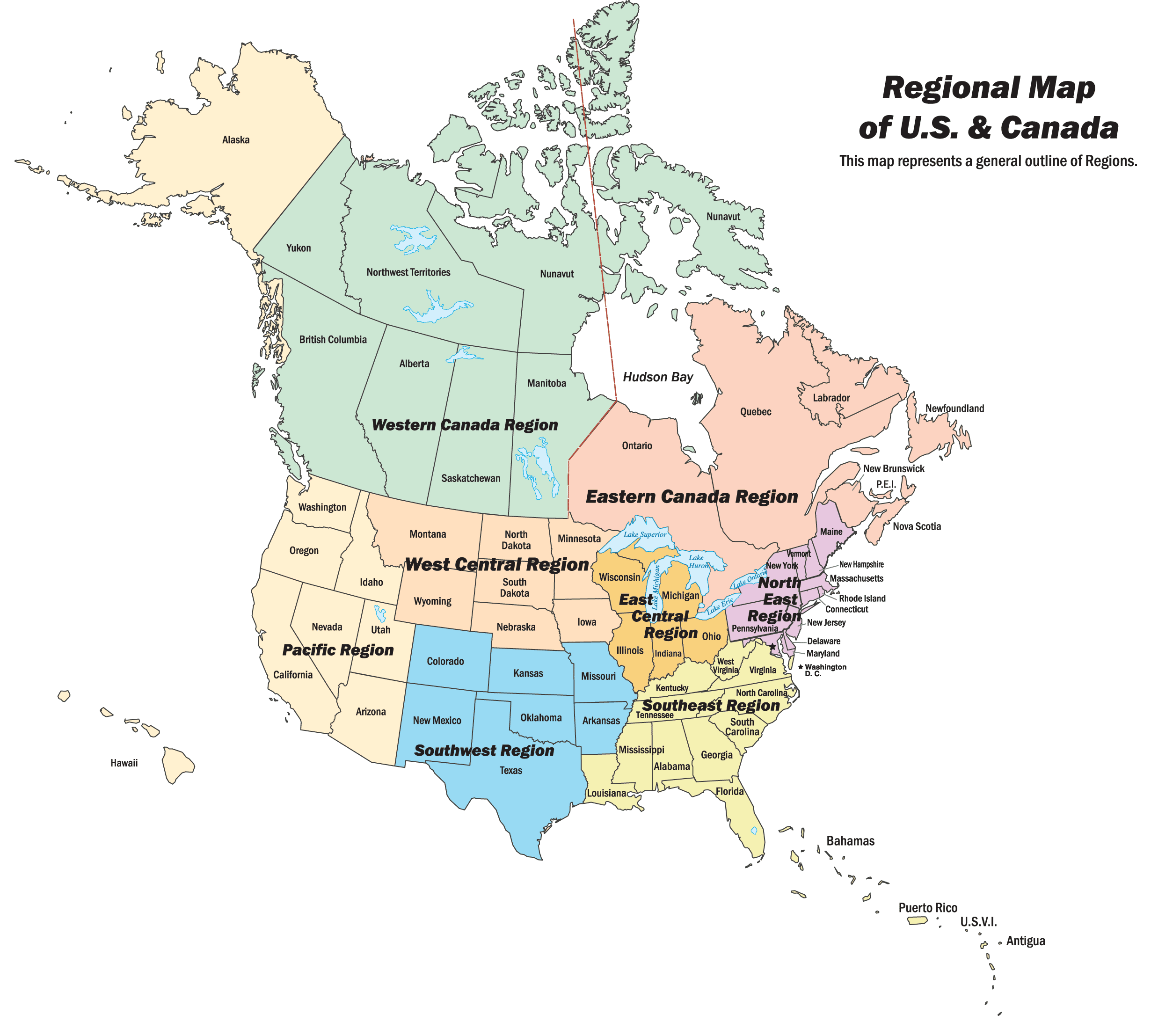 Map of Canada And Usa With Cities Canada And Usa Map